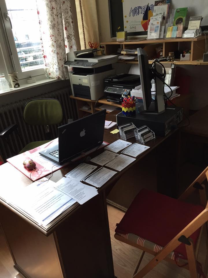 Biroul, sala si biblioteca Centrului Cultural Austro Roman Graz