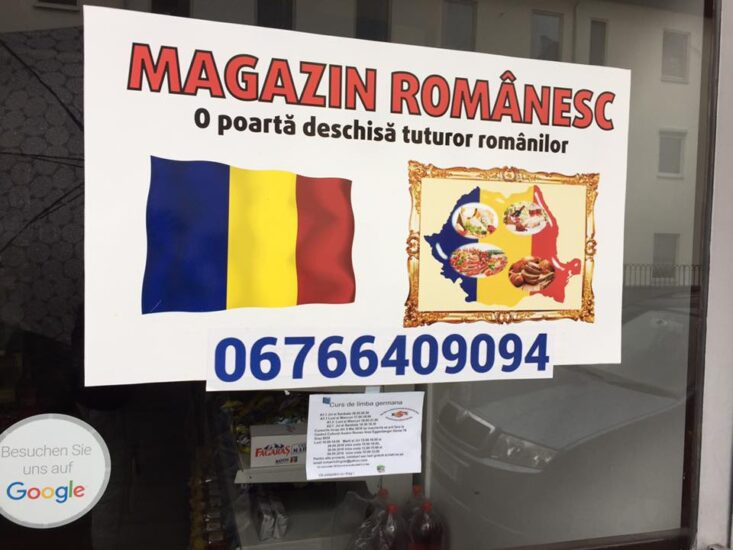 Magazin romanesc in Graz
